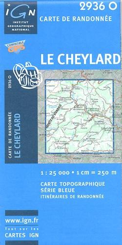 2936 Ouest  le Cheylard 2936O  IGN IGN 25 Ardèche / Drôme  Wandelkaarten Ardèche, Drôme