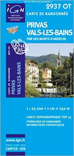 2937 Est: Privas 2937E  IGN IGN 25 Ardèche / Drôme  Wandelkaarten Ardèche, Drôme
