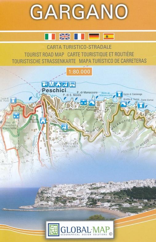Il Gargano 1:80.000 8059591303061  Global Map   Landkaarten en wegenkaarten Apulië