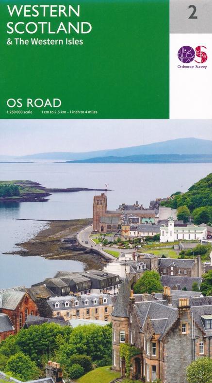 RM-2 Western Scotland, wegenkaart West-Schotland 9780319263747  Ordnance Survey Road Map 1:250.000  Landkaarten en wegenkaarten de Schotse Hooglanden (ten noorden van Glasgow / Edinburgh), Skye & the Western Isles