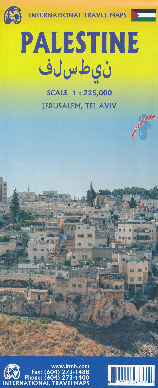 Palestine and Israel | landkaart, autokaart 1:225.000 9781771293655  ITM   Landkaarten en wegenkaarten Israël, Palestina