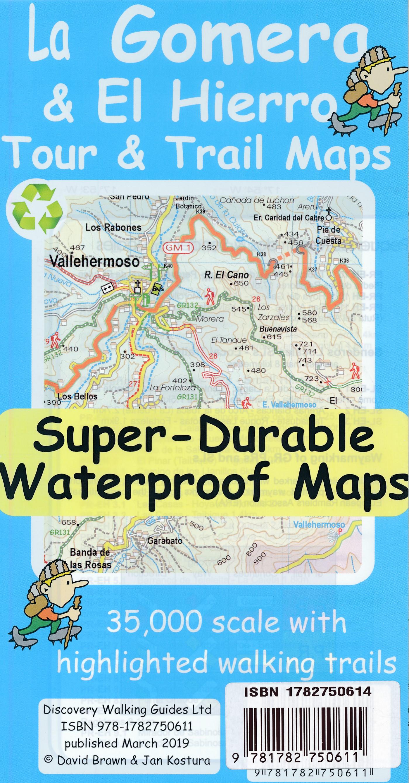 La Gomera 1:35.000 (6th ed) 9781782750611  Discovery Guides Wandelkaarten Spanje  Wandelkaarten La Gomera