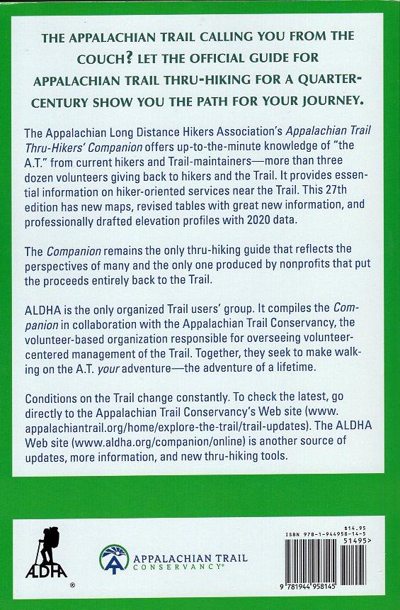 Appalachian Trail Thru-Hikers' Companion   wandelgids 9781944958145  Appalachian Trail Conference   Meerdaagse wandelroutes, Wandelgidsen VS ten oosten van de Rocky Mountains