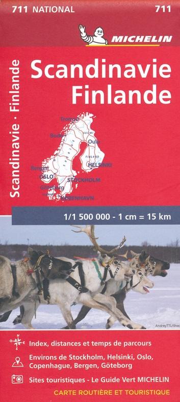 711 Scandinavië 1:1,5m 9782067170476  Michelin   Landkaarten en wegenkaarten Scandinavië (& Noordpool)