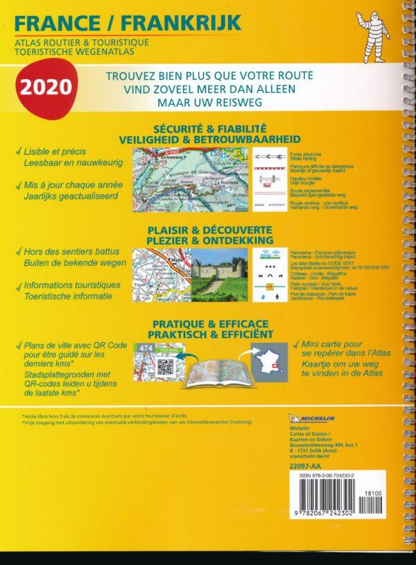 Frankrijk Wegenatlas 1/200.000 spiraalband 2020 9782067242302  Michelin Wegenatlassen  Wegenatlassen Frankrijk