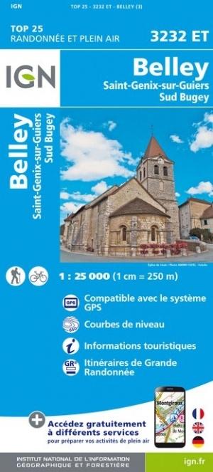 3232ET   Belley, St-Genix-sur-Guiers | wandelkaart 1:25.000 9782758541806  IGN IGN 25 Franse Alpen/ Nrd.helft  Wandelkaarten Franse Alpen: noord