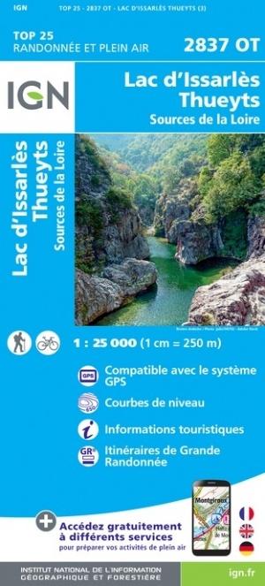 2837OT  Thueyts, Sources de la Loire - Ardèche | wandelkaart 1:25.000 9782758543152  IGN TOP 25  Wandelkaarten Ardèche, Drôme