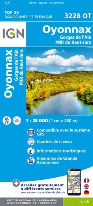 3228OT   Oyonnax Nord | wandelkaart 1:25.000 9782758545538  IGN TOP 25  Wandelkaarten Lyon en omgeving