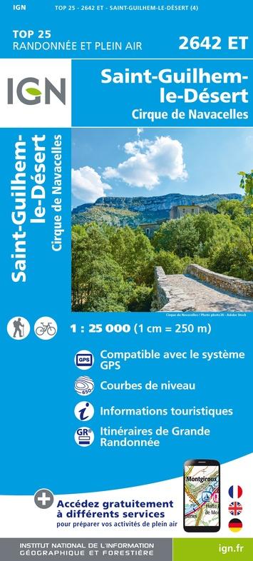 2642ET St-Guilhem-le-Désert | wandelkaart 1:25.000 9782758546559  IGN TOP 25  Wandelkaarten Cevennen, Languedoc