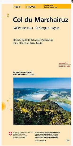 460T Col du Marchairuz / Vallée de Joux-St-Cergue-Nyon 9783302304601  Bundesamt / Swisstopo SAW 1:50.000  Wandelkaarten Jura, Genève, Vaud