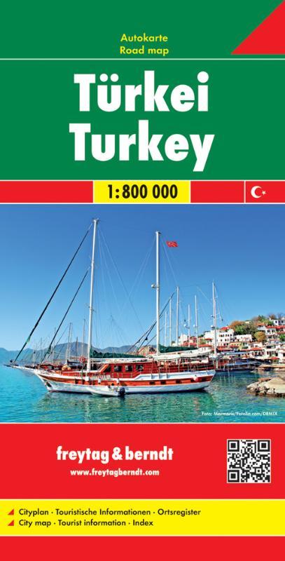 Turkije | autokaart, wegenkaart 1:800.000 9783707909616  Freytag & Berndt   Landkaarten en wegenkaarten Turkije