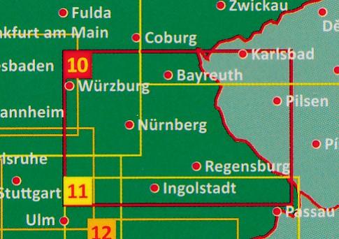Franken - Altmühltal - Beieren Oost wegenkaart / overzichtskaart 1:150.000 9783707918106  Freytag & Berndt F&B deelkaarten Duitsland  Landkaarten en wegenkaarten Beieren