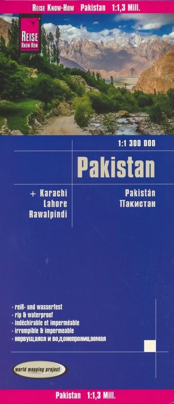 landkaart, wegenkaart Pakistan 1:1.300.000 9783831774241  Reise Know-How WMP Polyart  Landkaarten en wegenkaarten Pakistan