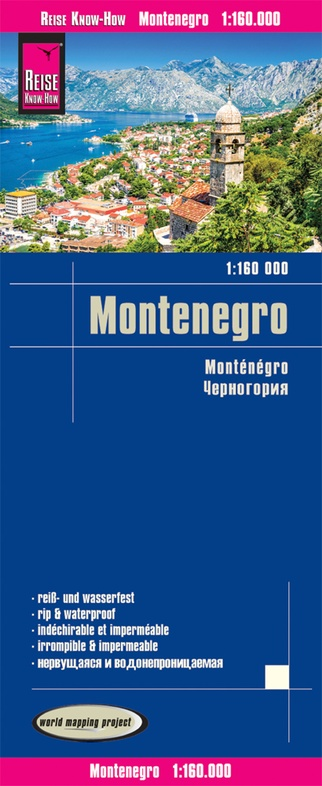 landkaart, wegenkaart Montenegro 1:160.000 9783831774302  Reise Know-How WMP Polyart  Landkaarten en wegenkaarten Servië, Bosnië-Hercegovina, Macedonië, Kosovo, Montenegro