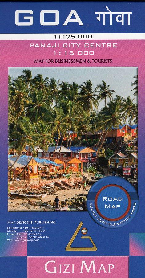 Goa 1:175.000 wegenkaart / overzichtskaart 9786155010170  Gizi Map   Landkaarten en wegenkaarten India