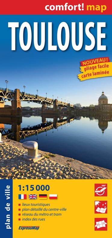 Toulouse, plan de ville 1:12.500 (stadsplattegrond) 9788380463509  Comfort Map   Stadsplattegronden Lot, Tarn, Toulouse