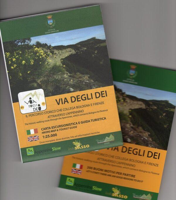 Via Degli Dei   wandelkaart 1:25.000 (met een gidsje) 9788894262308  ApenninoSlow   Lopen naar Rome, Wandelkaarten Bologna, Emilia-Romagna, Toscane, Florence