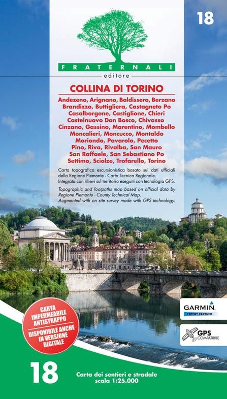 FRA-18  Collina di Torino | wandelkaart 1:25.000 9788897465164  Fraternali Editore   Wandelkaarten Turijn, Piemonte