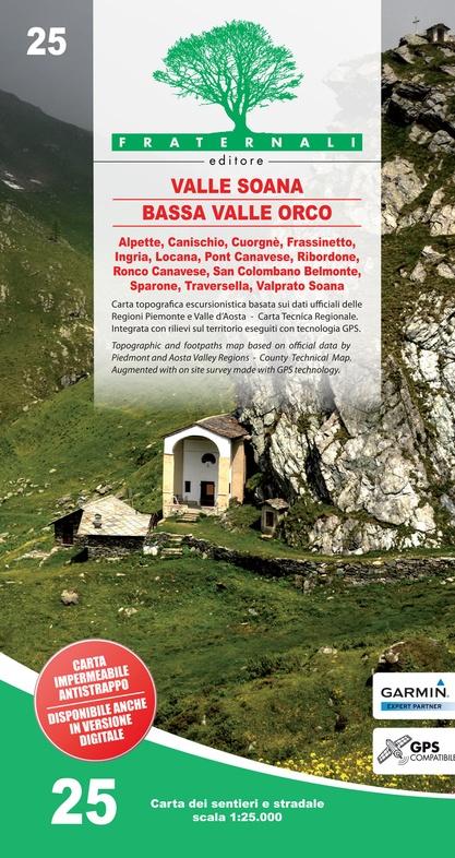 FRA-25 Valle Orco - Val Soana | wandelkaart 1:25.000 9788897465362  Fraternali Editore   Wandelkaarten Turijn, Piemonte