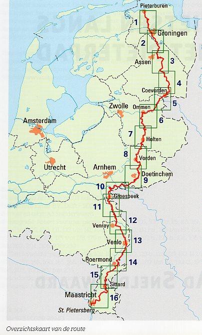 Fietsen langs het Pieterpad | Robert Poutsma 9789038926940  Elmar meerdaagse fietsroutes (NL)  Fietsgidsen, Meerdaagse fietsvakanties Nederland