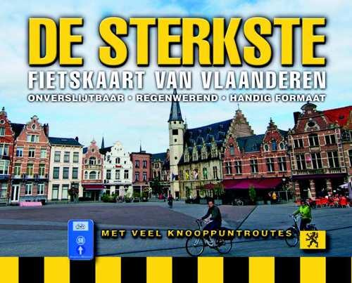 De Sterkste Fietskaart van Vlaanderen 1:150.000 9789058819833  Buijten & Schipperheijn DSF  Fietskaarten Vlaanderen & Brussel
