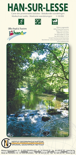 Han-sur-Lesse 1:10.000 9789059349995  NGI NGI/VVV-kaarten 10d  Wandelkaarten Wallonië (Ardennen)