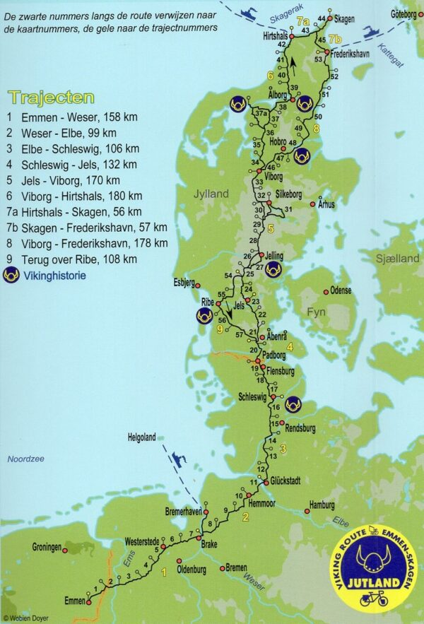 Jutland Fietsroute | fietsgids 9789064558856 Clemens Sweerman, Europafietsers Pirola Pirola fietsgidsen  Fietsgidsen, Meerdaagse fietsvakanties Denemarken