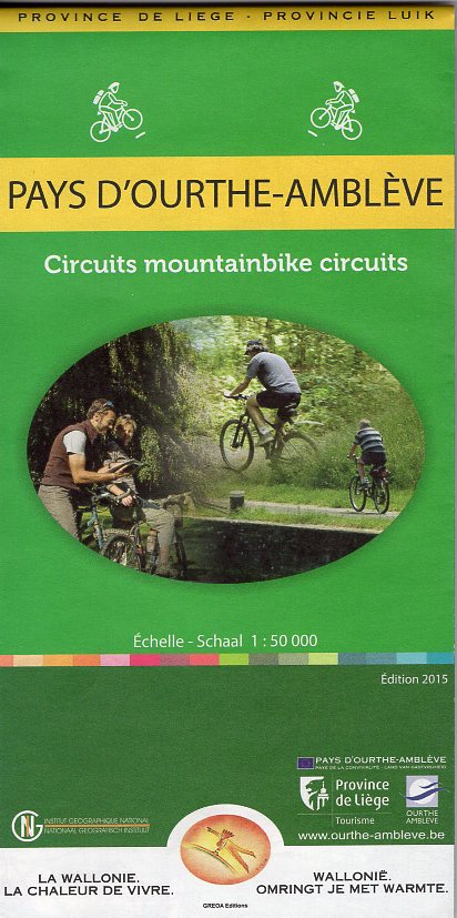 Pays d'Ourthe-Amblève mountainbike 1:50.000 9789462351196  NGI NGI/VVV-kaarten 50d  Fietskaarten Wallonië (Ardennen)