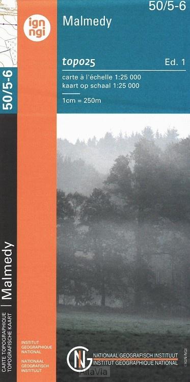 NGI-50/5-6  Stavelot-Malmedy | topografische wandelkaart 1:25.000 9789462352322  NGI Belgie 1:20.000/25.000  Wandelkaarten Wallonië (Ardennen)