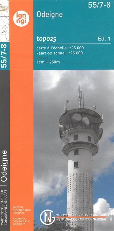 NGI-55/7-8  Odeigne-Bihain | topografische wandelkaart 1:20.000 9789462352384  NGI Belgie 1:20.000/25.000  Wandelkaarten Wallonië (Ardennen)