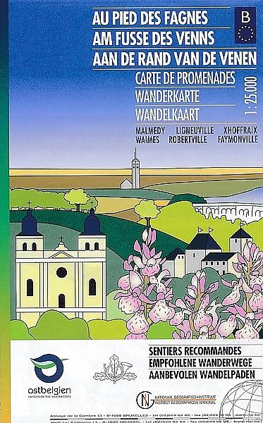 Aan de Rand van de Venen (Malmédy) | wandelkaart 1:25.000 9789462352735  NGI NGI/VVV-kaarten 25d  Wandelkaarten Wallonië (Ardennen)