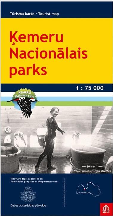 Kemeri National Park 1:75.000 9789984077482  Jana Seta   Wandelkaarten Letland