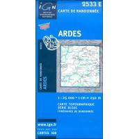 2533 Est  Ardes 2533E  IGN IGN 25 Auvergne  Wandelkaarten Auvergne