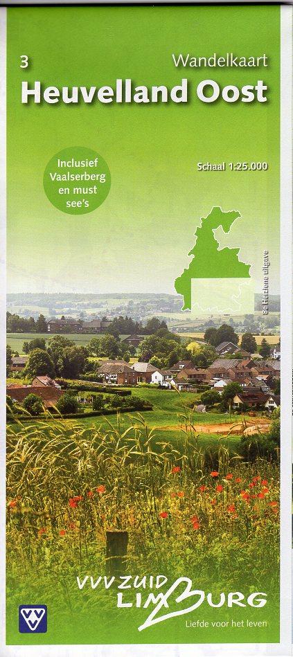 Heuvelland Oost 1:25.000 | wandelkaart 3 31482  VVV Limburg   Wandelkaarten Maastricht en Zuid-Limburg