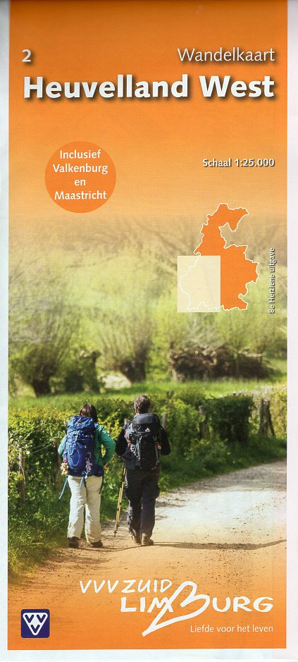 Heuvelland West 1:25.000 | wandelkaart 2 31483  VVV Limburg   Wandelkaarten Maastricht en Zuid-Limburg