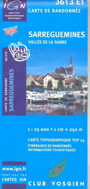 3613ET   Sarreguemines | wandelkaart 1:25.000 3613ET  IGN TOP 25  Wandelkaarten Vogezen