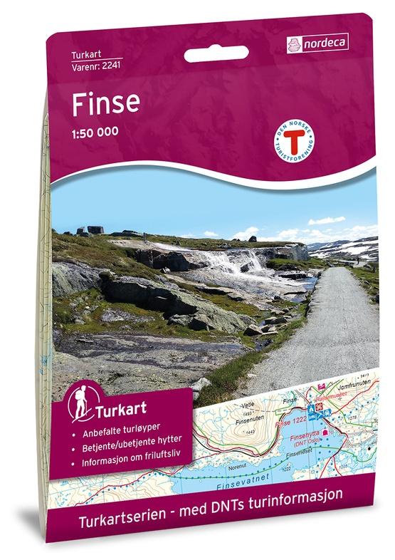 UG-2241  Finse | topografische wandelkaart 1:50.000 7046660022412  Nordeca / Ugland Turkart Norge 1:50.000  Wandelkaarten Zuid-Noorwegen