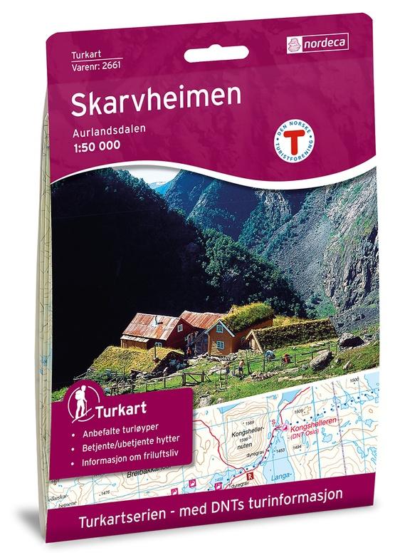 UG-2661  Skarvheimen | topografische wandelkaart 1:50.000 7046660026618  Nordeca / Ugland Turkart Norge 1:50.000  Wandelkaarten Zuid-Noorwegen