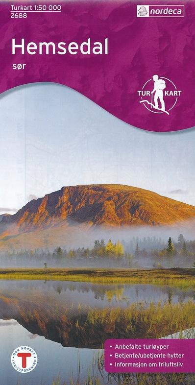UG-2688  Hemsedal Sor | topografische wandelkaart 1:50.000 7046660026885  Nordeca / Ugland Turkart Norge 1:50.000  Wandelkaarten Zuid-Noorwegen