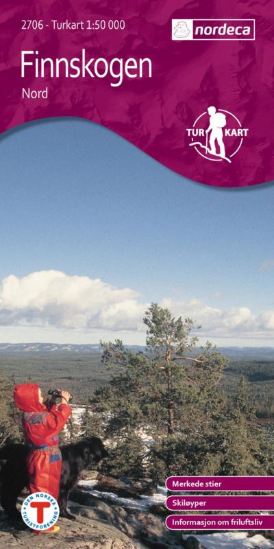 UG-2706  Finnskogen Nord | topografische wandelkaart 1:50.000 7046660027066  Nordeca / Ugland Turkart Norge 1:50.000  Wandelkaarten Zuid-Noorwegen