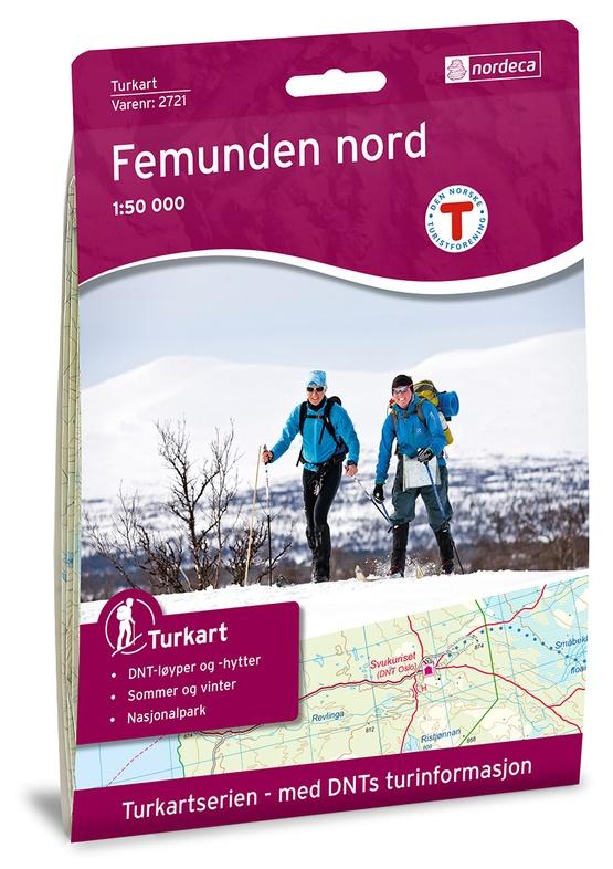UG-2721  Femunden Nord | topografische wandelkaart 1:50.000 7046660027219  Nordeca / Ugland Turkart Norge 1:50.000  Wandelkaarten Noorwegen boven de Sognefjord