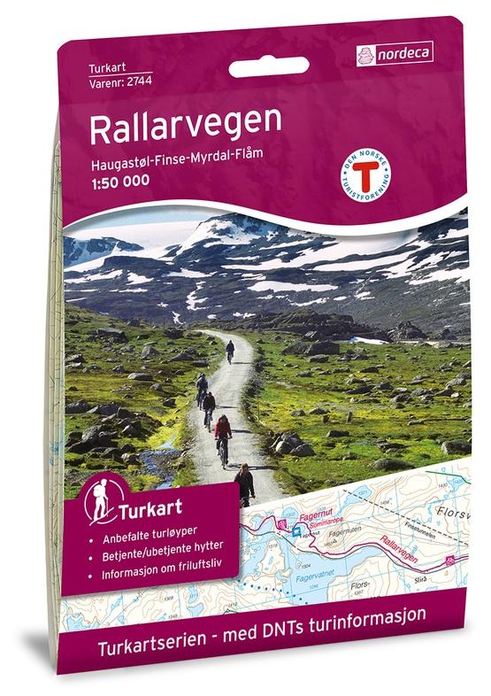 UG-2744  Rallarvegen | topografische wandelkaart 1:50.000 7046660027448  Nordeca / Ugland Turkart Norge 1:50.000  Fietskaarten, Wandelkaarten Zuid-Noorwegen