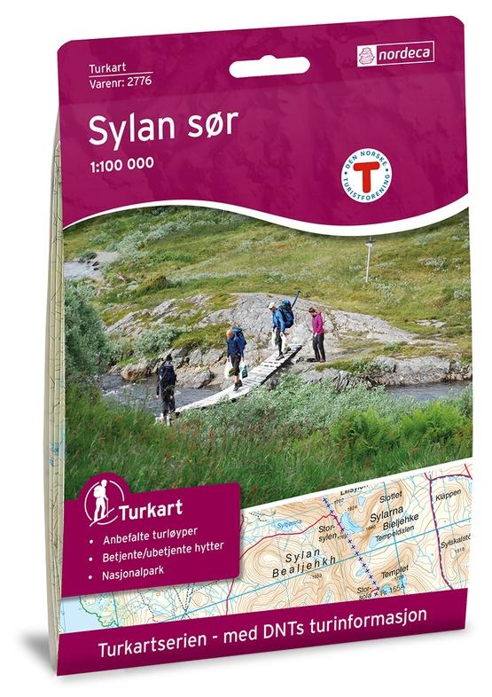 UG-2776  Sylan Sør 1:100.000 7046660027769  Nordeca / Ugland Turkart Norge 1:100.000  Wandelkaarten Noorwegen boven de Sognefjord