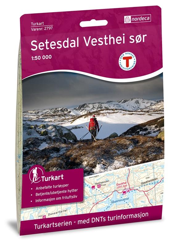UG-2797  Setesdal Vesthei - Sør | topografische wandelkaart 1:50.000 7046660027974  Nordeca / Ugland Turkart Norge 1:50.000  Wandelkaarten Zuid-Noorwegen