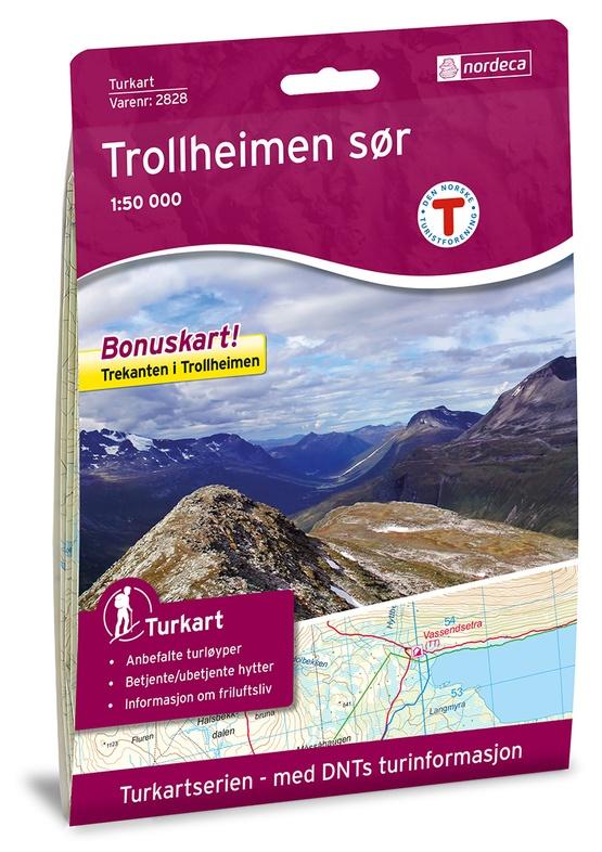 UG-2828 Trollheimen Sor | topografische wandelkaart 1:50.000 7046660028285  Nordeca / Ugland Turkart Norge 1:50.000  Wandelkaarten Noorwegen boven de Sognefjord