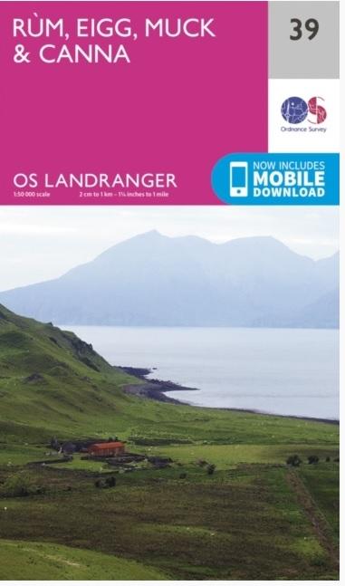 LR-039  Rum + Eigg   topografische wandelkaart 9780319261378  Ordnance Survey Landranger Maps 1:50.000  Wandelkaarten Skye & the Western Isles