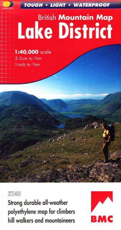 Lake District, British Mountain Map 1:40.000 9781851374670  Harvey Maps   Wandelkaarten Lake District