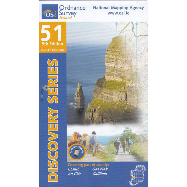 DM-51 (part of County Clare) 9781908852526  Ordnance Survey Ireland Discovery Maps 1:50.000  Wandelkaarten Munster, Cork & Kerry