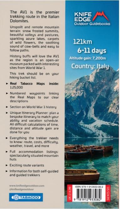 Trekking in the Dolomites: Alta Via nr.1 9781912933082  Knife Edge   Meerdaagse wandelroutes, Wandelgidsen Zuid-Tirol, Dolomieten