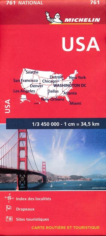 761  USA 1:3.450.000 9782067173262  Michelin Michelinkaarten USA  Landkaarten en wegenkaarten Verenigde Staten